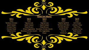 Gold Set Menu
