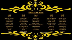Platinum Set Menu