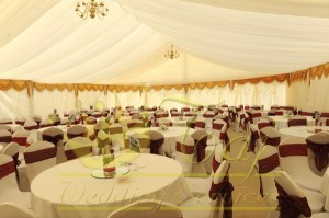 Fully-lined-dressed-marquee