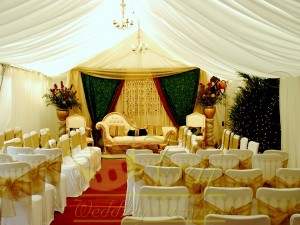 Marquee-hire-with-lining-and-wedding-stage-in-London-middlesex