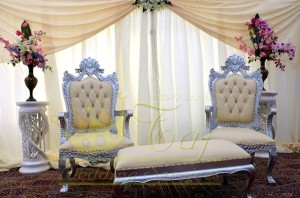 16. Silver Throne Chairs