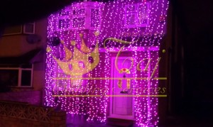 Pink-wedding-lights-harrow