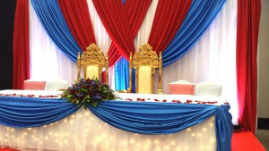 Head Table with 2 Thrones